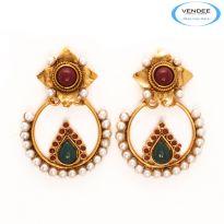 Vendee Fashion Beautiful Copper Earrings 7124