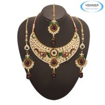 Vendee Fashion Party Wear Necklace Set 7155