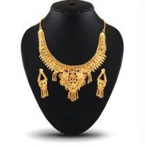 Ladies Designer Necklace Set, 1 Gram Gold Plating
