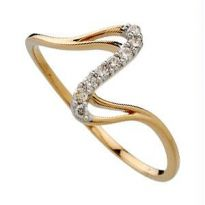 Bling! Real Gold And Diamond Classic Ring BGR041