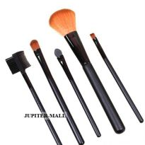 5 Pcs Make Up Brush Cosmetic Set Kit Case -01