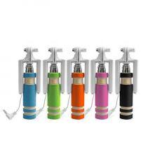 Ksj Original Buy 1 Get 2 Free Mini Foldable Selfie Stick With Aux Cable Selfie Stick (with Manufacturer Warranty)
