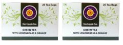 Green Tea With Lemongrass & Orange (Pack Of Two) - 50 Tea Bags