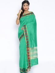 Sudarshan Silks SUDARSHAN NEW DESIGNER COTTON SAREE-Green-AJS5532-VT-Cotton
