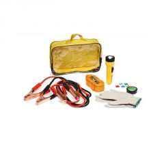 Eshopitude - Emergency Car Kit Jumper Cable-tow Rope- Fuses- Emergency Light-gloves(heavy Quality)