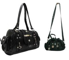 Estoss  Black Multi-Pocket Handbag And Black Multi-Pocket Sling Bag Combo Of 3