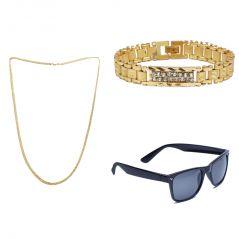 Sondagar Arts Latest  Bracelet Chain Glares Combo Offers For Men