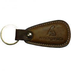 Sondagar Arts Genuine Leather  Men's Key Chain (Brown)