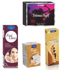 St.John-Vijohn Women Care Kit (Hair Remover Sandal & Fast Glow Fairness Cream & Body Butter & Perfume Delious Night)-(Code-VJ456)