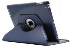 PU Leather 360 Degree Rotating Leather Case Cover Stand (Navy Blue) for iPad Mini 2 Retina