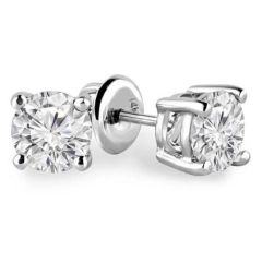 Sheetal Diamonds 0.50TCW Real Round Solitaire Certified Stud Earring 14k White Gold