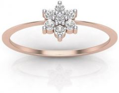 Sheetal Diamonds 0.15TCW Real Round Diamond Nakshatra Ring 14k Rose Gold Best Wedding Ring
