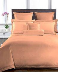 Welhouse Peach Colour Plain 1 Double Bedsheet With 2 Pillow Covers (300 TC)