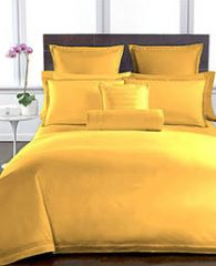 Welhouse Yellow Colour Plain 1 Double Bedsheet With 2 Pillow Covers (300 TC)