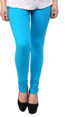 Sassily Cotton Lycra Legging For Women - (Code - Cotton Lycra Legging For Women -Cotton_Lycra-Sky_Blue_p)