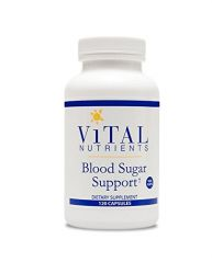 Vital Nutrients Blood Sugar Support V-Capsules, 120 Count