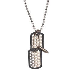 Men Style Hot Selling Bullet New Design   Silver  Stainless Steel Sqaure Pendent For Men And Women SPn05090