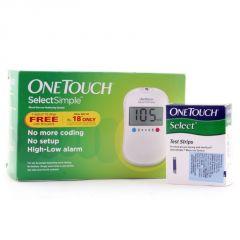 Johnson & Johnson Onetouch Select Simple Glucometer Kit