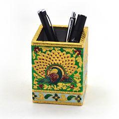 Oxidized Jaipuri Fine Meenakari Work Pen Stand 288 By Pioneerpragati - (Product Code-PGT4HCF288)