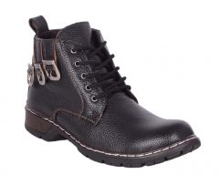 George Adam Mens Synthetic Leather Free Sprit Dark Brown Boots (Code - 18020_D-BROWN_FREE_SPRIT_boots)