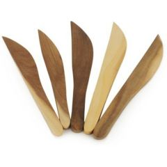 Onlineshoppee Fancy Design Kitchen Ware Elegant Wooden Fruit Knife Set Of 5 Size(LxBxH-8.5x1.1x0.2) Inch AFR1160