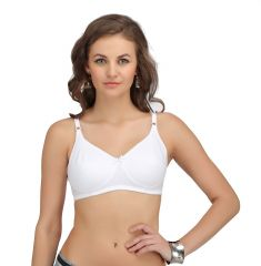 "Sona Women""s Full Cup Cotton Breast Cancer, Mastectomy Bra Skin-(Code-SL-CANCER-BRA-1-WHITE)"