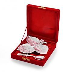 Vivan Creation Silver Polish Leaf Shaped Brass Freshener Set 270