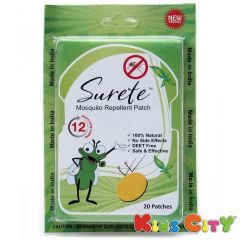 Surete Mosquito Repellent Patch - 20Pk