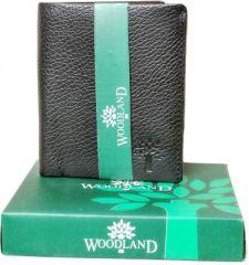 Woodland Designer Leather Wallet For Men - Vertico Style (Black)