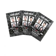 Hair4Real 5 Minutes Black Hair Shampoo Set Of 3 (75ml) With 3 Sets Of Gloves Free