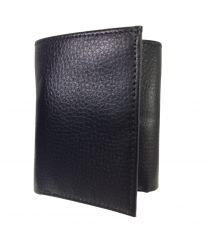 Onyx-Black Tri-Fold Premium Quality PU Leather Wallet By GetSetStyle PPU-BLK-T7038