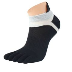 2Pair Mens Five Toes Cotton Socks Pure Breathable Sports Running Gym Finger Socks For Men