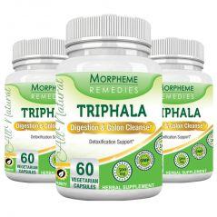 Morpheme Triphala 500mg Extract 60 Veg Caps - 3 Bottles