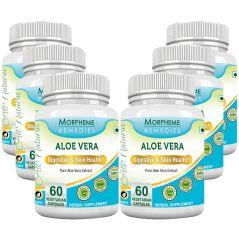Morpheme Aloe Vera 500mg Extract 60 Veg Caps - 6 Bottles