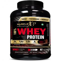MuscleXP 100% Whey Protein - 2Kg (4.4 Lbs), Double Rich Chocolate - The New Whey Standards