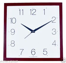 13 Inches Wall Clock Square Wooden Looks For Home Office Gift-WC504