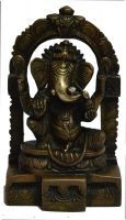 Beautiful Antique Finish Brass Hinduism Ganesha/ganesh Small Temple Statue