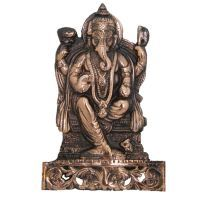Divya Mantra Ganesha Figure Wall Decorative Antique Copper Finish