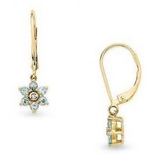 Ag Real Diamond Stone Jammu Earring AGSE0069A