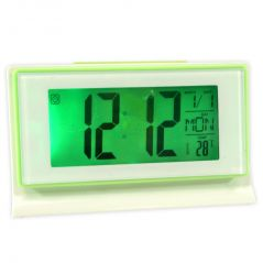 Voice Control Sound Sensor Calendar Alarm Table Clock Thermometer Timer-187
