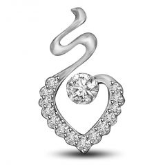 Surat Diamond 0.22ct White Gold Diamond Solitaire Pendant For Her P1015