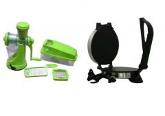 Heavy Duty Roti Maker With Manual Center Fruit Juicer And Vegetable Chopper