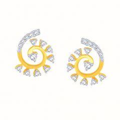 Gili Yellow Gold Diamond Earrings OEL828SI-JK18Y