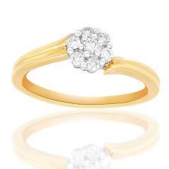 Nirvana Beautiful And Sparkling Diamond Ring NR18YNRC610X For Women