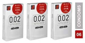 Ultra-sensitive Thin Condom By Okamoto 002 0.02 - L Size - Pack Of 3 (code - Citd014)