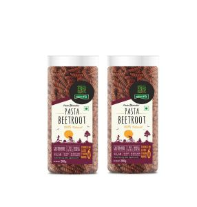 Pasta, Pasta Sauces - Beetroot Gluten free Pasta Pack of 2 - 200g Each - By NutraHi (Code - NHB04)