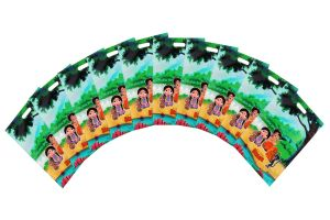 CHHOTABHEEM SMALL PARTY BAG COMBO-10 (Pack Of  50 Pcs) By  STICKER BAZAAR
