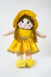 Baby Doll Girl - Dolly Velvet - Yellow Color By Lovely Toys(code - Ltddvy_06 )
