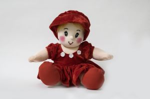 Baby Doll Girl Pram Baby Red Color By Lovely Toys ( Code -ltdpbr_01 )