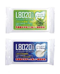 Doshisha L8020 Anti Bacteria Dental Care Tablets, Mint And Yogurt Flavor, Set Of 2, 9gms Each